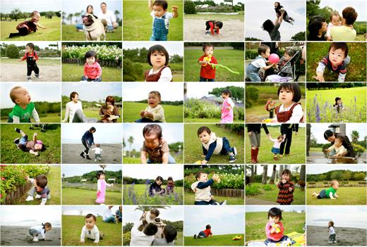 17人ベビーの1歳記念撮影のカメラマンをやりました