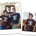 先日完成した、「パスタと肴 MoRimoTo」の「8GatakeTシャツ」を着た、スタッフの皆さんから笑顔の写真が届きました。