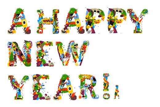 子供が主人公の年賀状に、楽しいエッセンスが加えられるかも!?おすすめイラストデザインフォント(書体・自体)「keeparty」。