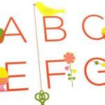 海外の子供学習用ABCアルファベット英語ポスターはとってもオシャレなデザイン!日本にかるたじゃなくていろはポスターってあるんでしょうか?