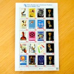 ワールドカップデザインの切手には、2010アフリカワールドカップ仕様と、歴代のワールドカップ仕様の2種類があるようです。