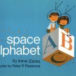海外の子供学習用ABCアルファベットブックも、とてもオシャレでキレイなデザイン!「スペース・アルファベット」Irene Zacks.,Peter P. Plasencia.