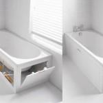 """お風呂周りの修繕予定のある人や、物件探しをしている人は要チェック!収納付きバスタブ""""Stowaway bath panel storage system""""デザインがスゴい!"""