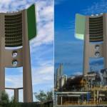 """二酸化炭素を酸素にするエアコンディショニング・スカイスクレーパー""""Green Concept Design CO2 Scraper""""。先生方、原発にコレいかせませんか?"""