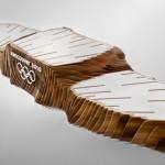 ココにもデザインの余地があったのね!デザイナーJames Lee & Leo Obstbaumデザインのウッディでエコを感じる表彰台とメダルトレイ。(ラフスケッチも)
