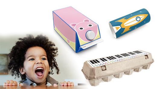 今まで捨てていたゴミを子供のおもちゃに変身させることができるステッカー『Box Play for Kids』