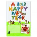 2013年巳年、子供と一緒につくる楽しい年賀状!