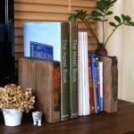 GALLUP(ギャラップ) 厚木ショールームで購入した、足場板の木端を使ってブックエンド作ってみました。