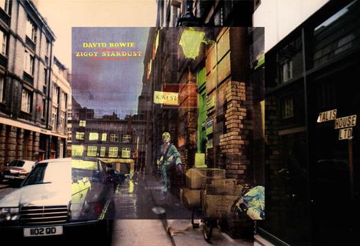 有名なレコードジャケットの撮影した場所を現在の様子と重ね合わせて紹介してくれるサイト「Pop Spots」が面白い。