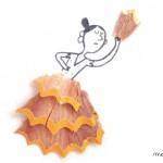 子どもと色えんぴつの削りカスでも楽しく遊べる方法。marta altes Illustrationが楽しい!