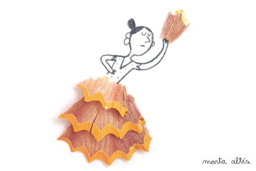 子どもと色えんぴつの削りカスで遊ぶ方法を知った!marta altes Illustrationが楽しい!