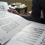 W杯のユニフォームの書体フォントの制作風景が紹介されています。ブラジル・フランス・オランダ・アメリカ・ポルトガルなど。