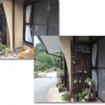玄関横に、植物を置く縦格子の棚を作ってみました。簡単DIY!